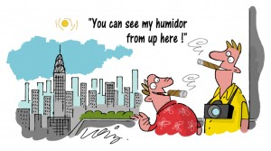 New York Cigar Humidor Cartoon