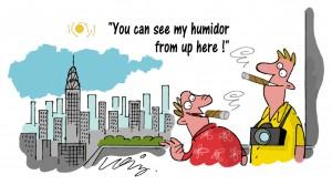 New York Cigar Humidor Cartoon
