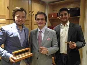 Herfing with Akhil from Regius cigars and Callum at Turmeaus Mayfair