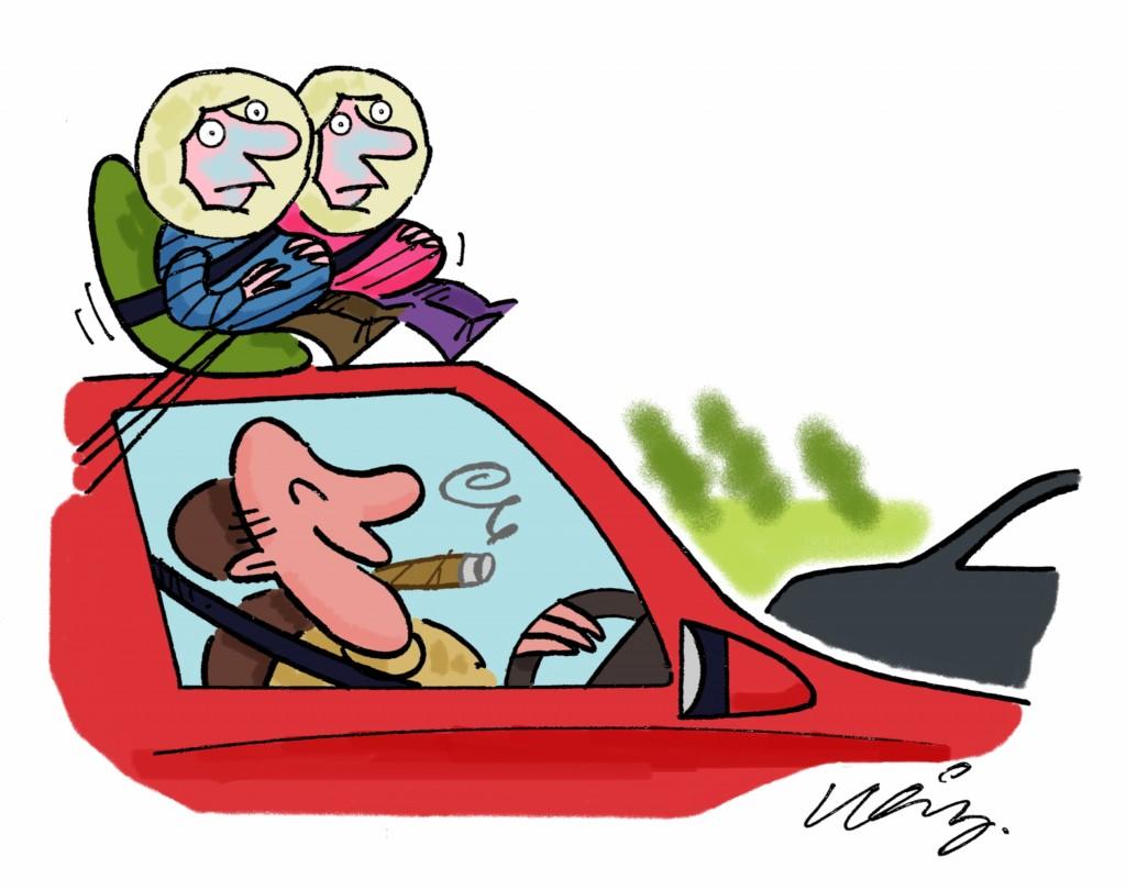 C.Gars Car Smoking Ban Cartoon