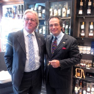 Mitchell and Ron at the Cambridge Davidoff cigar tasting event