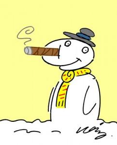 Cigar Snowman