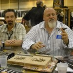 James & Steve the 'Dirty Rat & Flying Pig' cigars in front are coincidental
