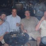 Herfing at local cigar store & bar with David, Joe & Robert