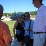 Herfing at the Vogelzang Vineyard - testing 2007 Cabernet