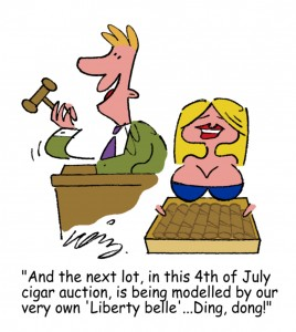 Cigar Auction Cartoon