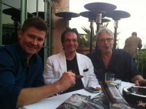 Michael Nouri and Michael Lington herfing at GHR