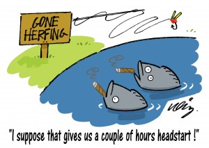 C.Gars Funny Cartoon Gone Herfing Fishing