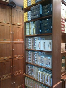 Stocked humidor full shelves C.Gars Ltd