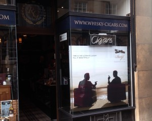 Robert Graham Cambridge Whisky Cigar Emporium Davidoff window display