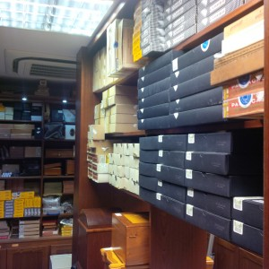 Cuban Cigar Stocks in our London Walk in Humidor