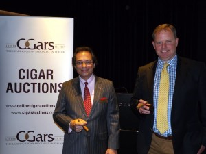 Mitchell and Jonathan at the C.Gars Ltd Cigar Auction