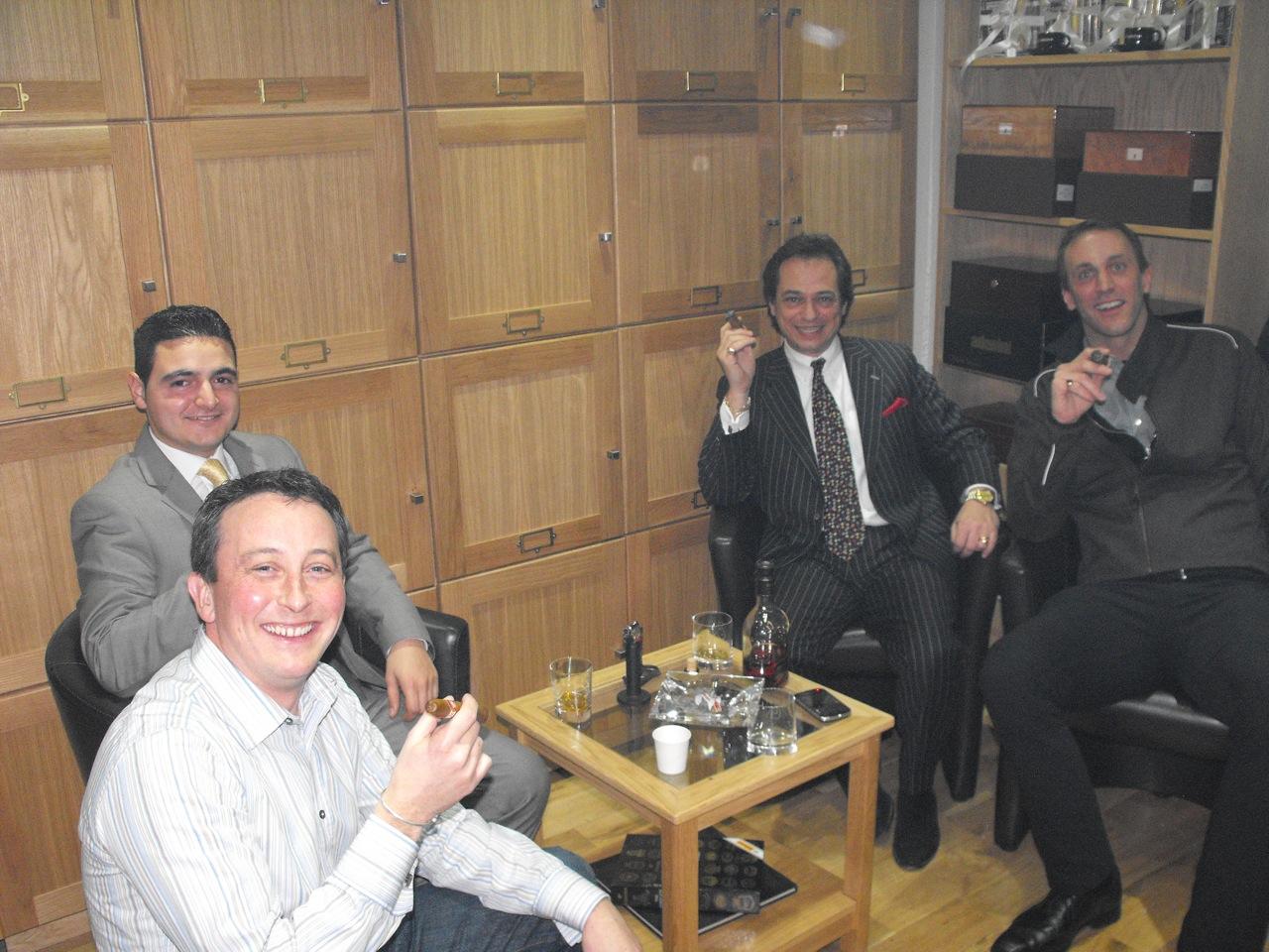 Alfie Turmeaus Mayfair Cigar Shop Indoor Sampling Lounge