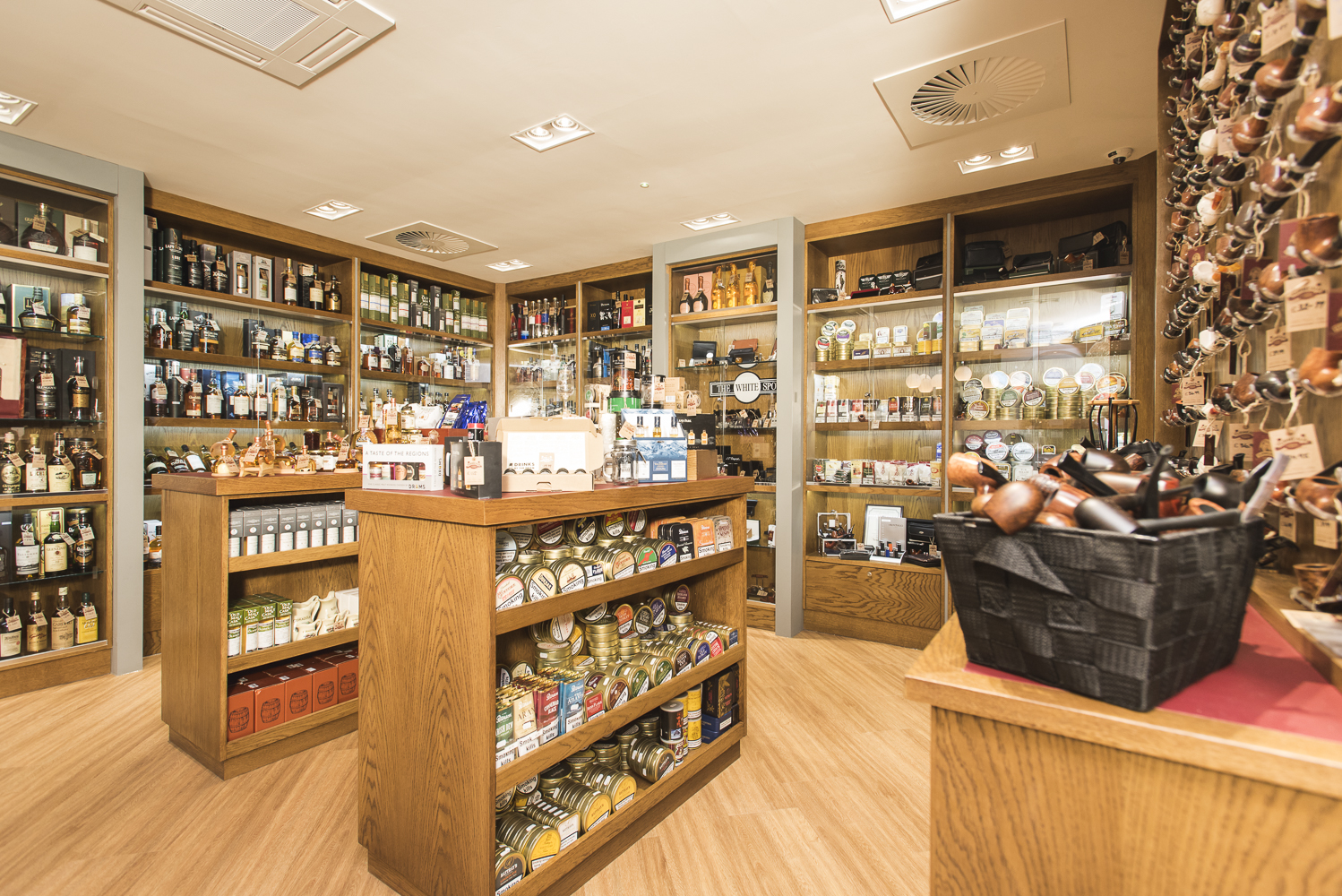 Whisky, smoking pipes and tobacco in our Liverpool Shop