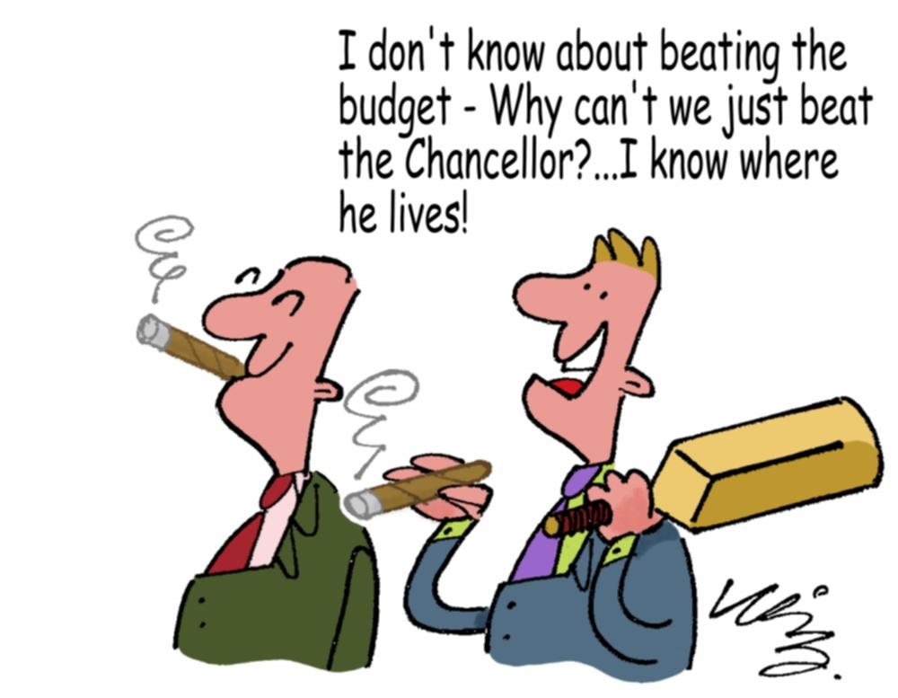 C.Gars Beat the Budget Cartoon