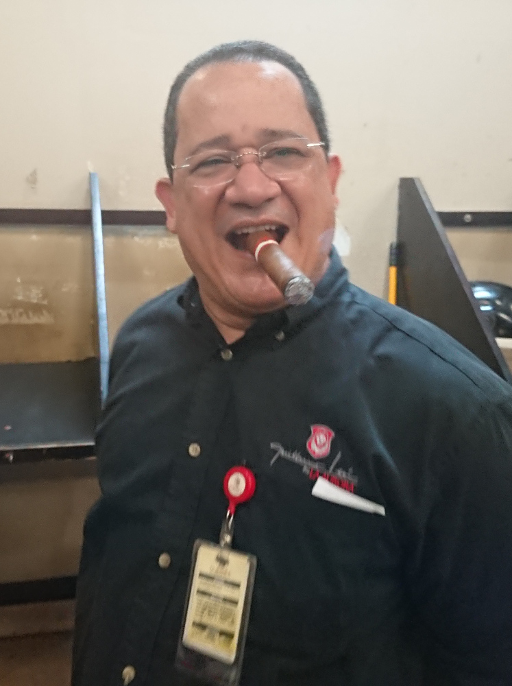 Eugenio from La Aurora Cigar Factory