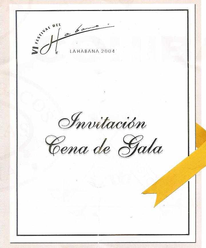Mitchells festival del habanos 2004 diary gala dinner invitation stopboris Image collections