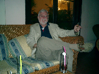 James Leavey ( journalist and cigar aficionado known as Hemmingway!) chilling at the Nacional