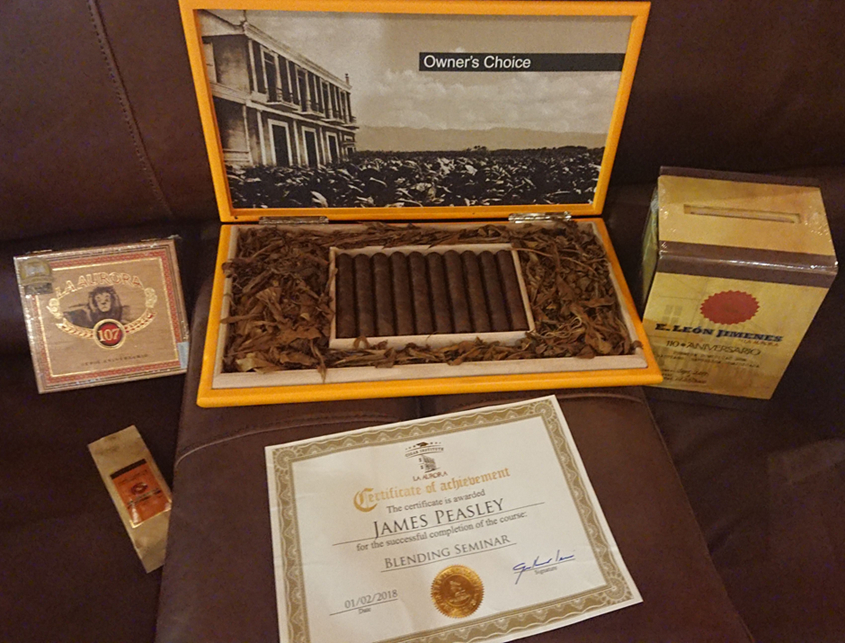 La Aurora Certificate and Owners Choice Cigars