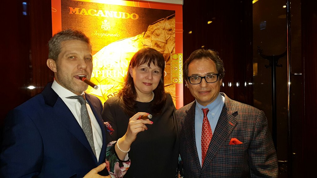 Mitchell, Guy and Michelle at the Macanudo Inspirado UK Launch Party