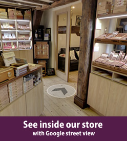Walk in humidor at the LCDH chester shop