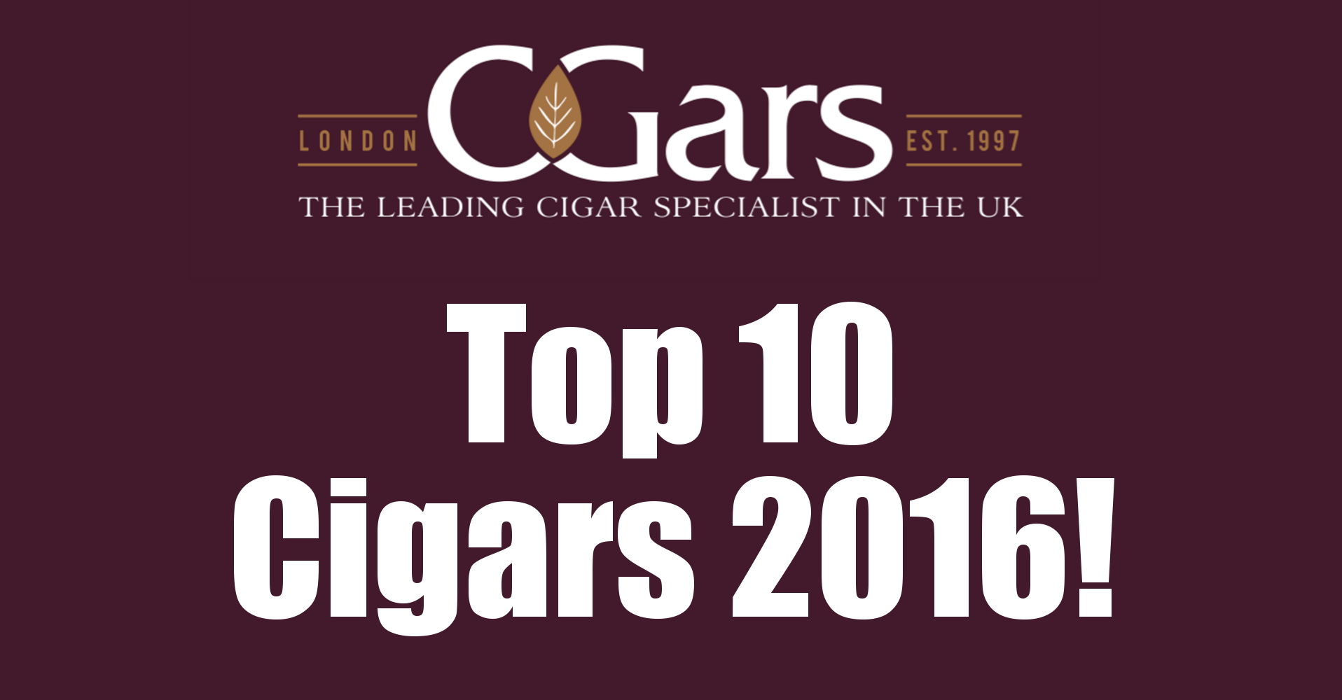 Top 10 cigars from 2016