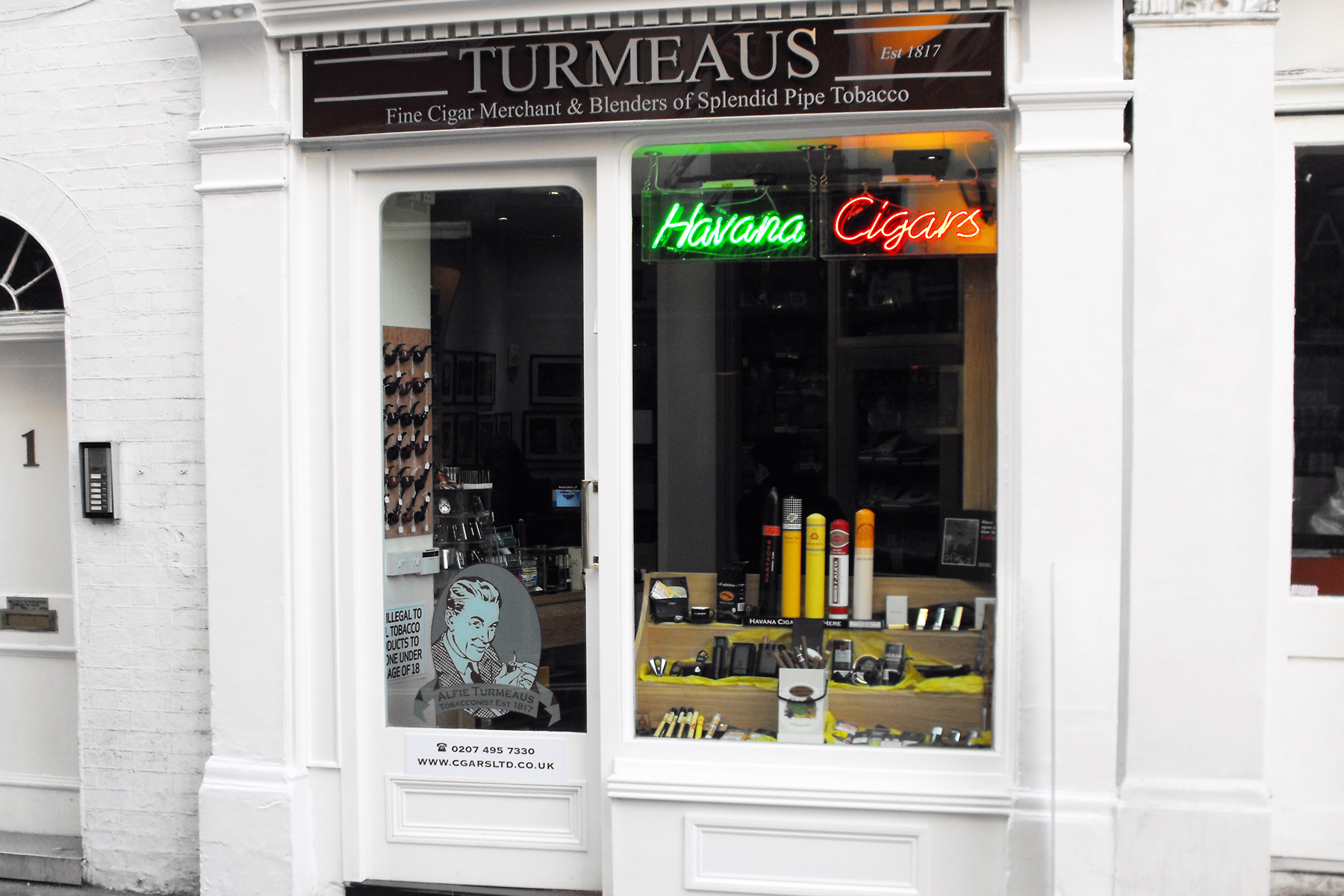 Alfie Turmeaus London Mayfair Tobacconist