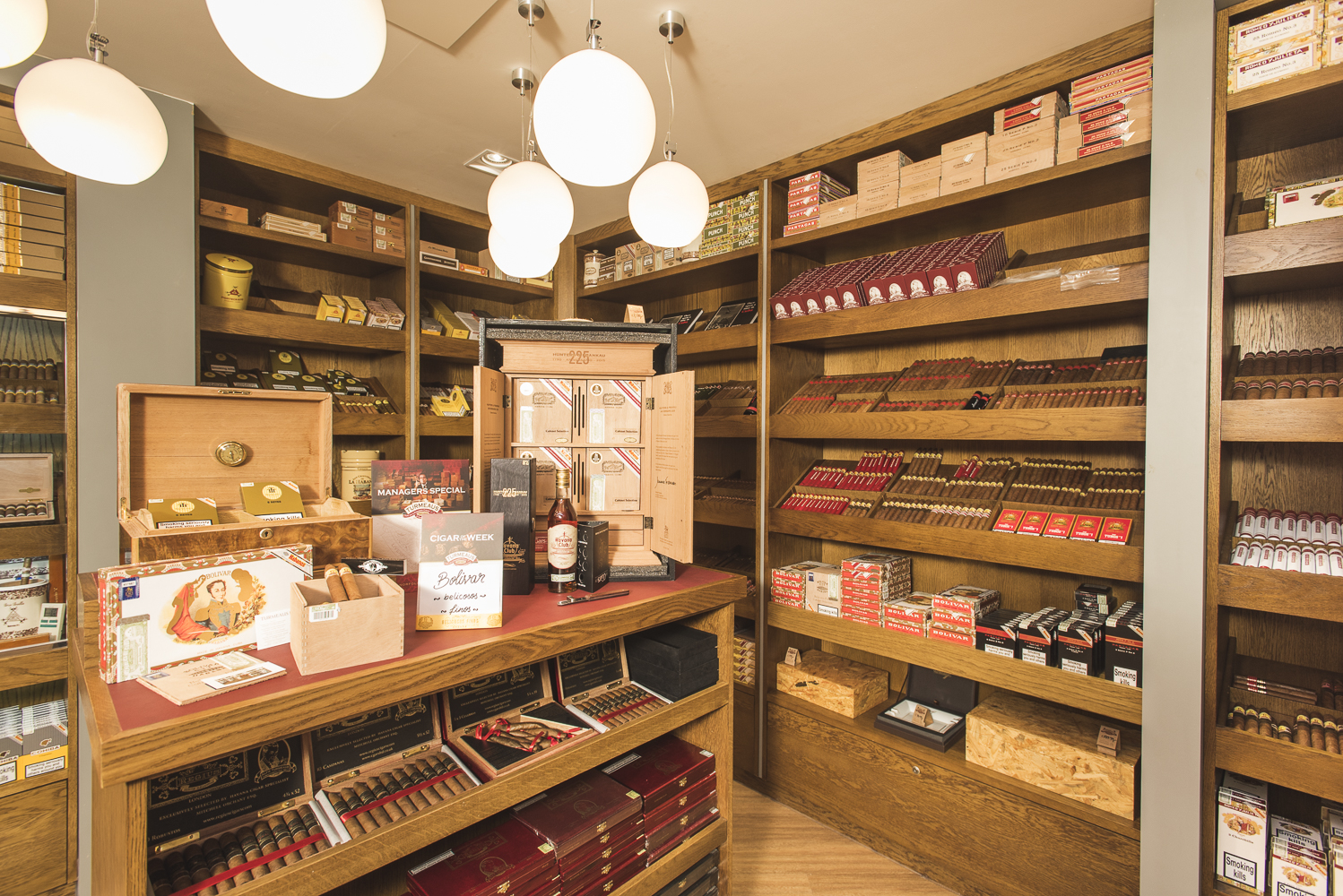 C.Gars Ltd Cigar Shop Cigars on Shelf