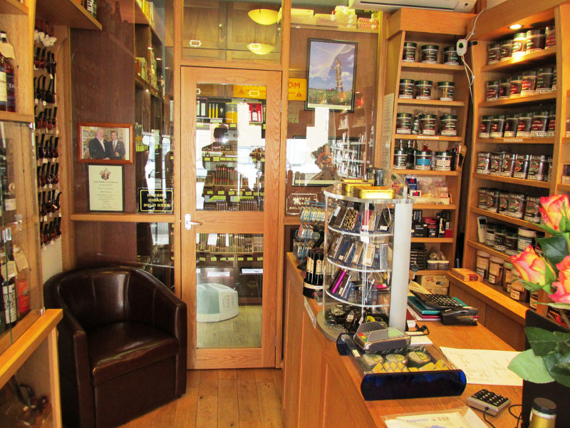 Inside the West Hampstead Whisky & Cigar Shop