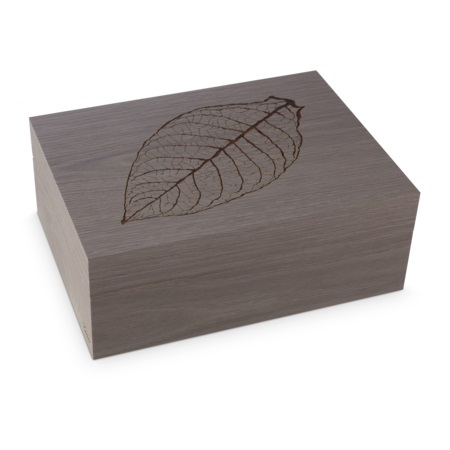 Zino Z60 Leaf Grey Oak Humidor - 60 Cigar Capacity