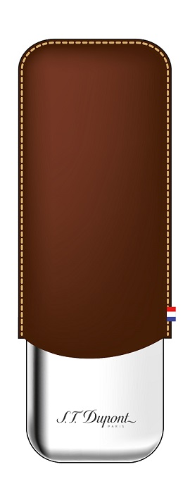 ST Dupont Leather Double Cigar Case - Brown