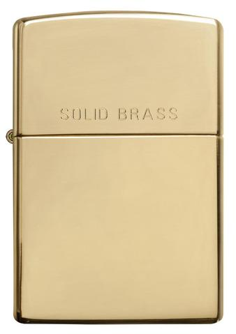 Zippo - High Polished Brass Solid Brass - Windproof Lighter