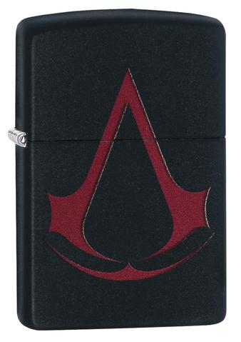 Zippo - Black Matte Assassin\'s Creed Crest - Windproof Lighter