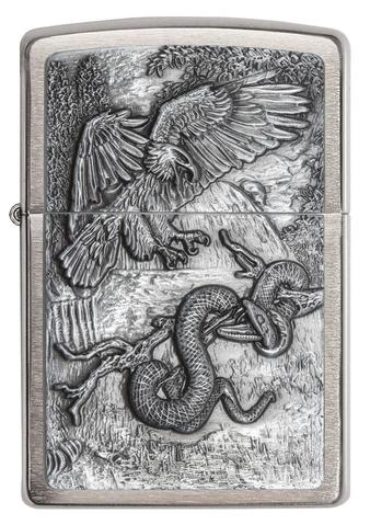 Zippo - Brushed Chrome Eagle vs Snake - Windproof Lighter