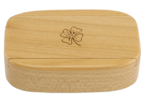 Wilsons of Sharrow Wooden Snuff Box - Sliding Lid Magnetic Panel
