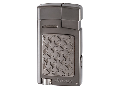 Xikar Forte Soft Flame Lighter with Punch Cutter - Gunmetal Houndstooth (G2)