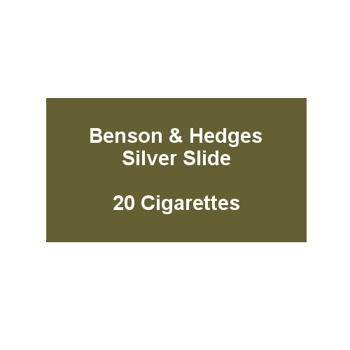Benson & Hedges Silver Slide - 1 Pack of 20 Cigarettes (20)