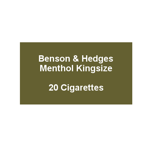 Benson & Hedges Blue Kingsize - 1 Pack of 20 Cigarettes (20)