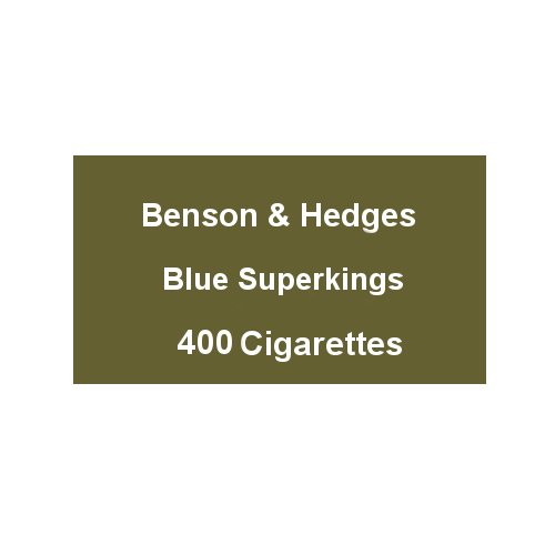 Benson & Hedges Blue Superkings - 20 Packs of 20 Cigarettes (400)