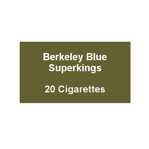 Berkeley Superking Blue Cigarette - 1 Pack of 20