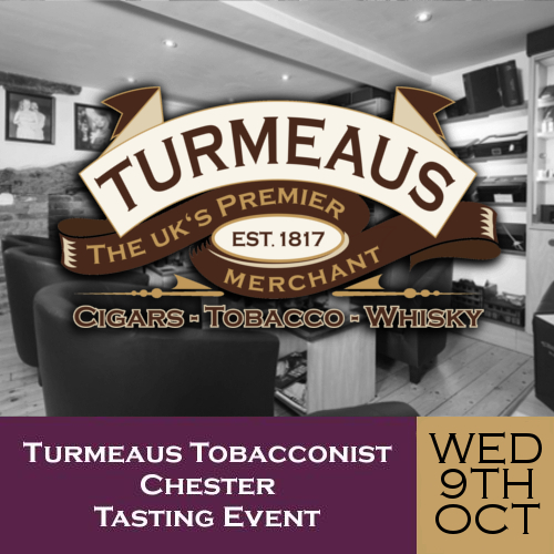 Turmeaus Chester Whisky & Cigar Tasting Event - 09/10/19