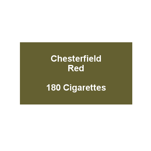 Chesterfield Red King Size Cigarettes- 10 packs of 18 cigarettes (180)
