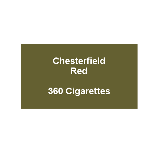 Chesterfield Red King Size Cigarettes- 20 packs of 18 cigarettes (360)