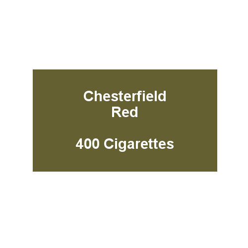 Chesterfield Red King Size Cigarettes- 20 packs of 20 cigarettes (400)