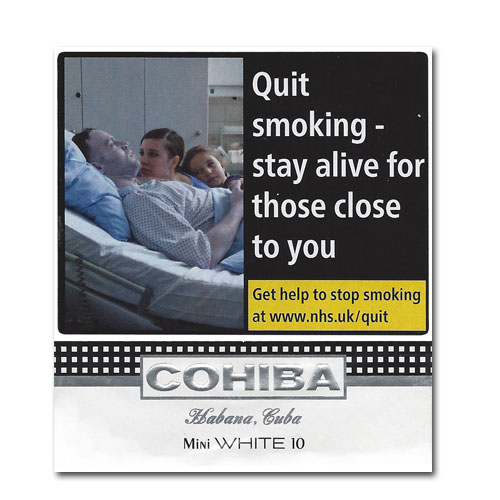 Cohiba Mini White Cigarillos – White Pack of 10