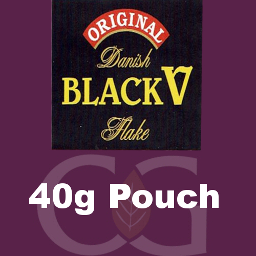 Danish Black V Flake Planta Pipe Tobacco 40g Pouch