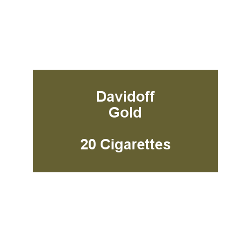 Davidoff King Size Bright Gold - 1 pack of 20 cigarettes (20)