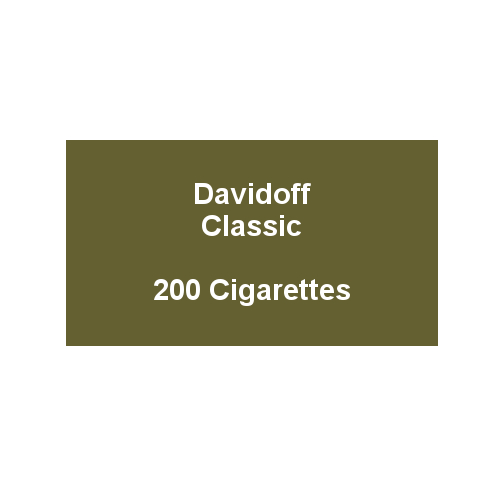 Davidoff King Size Classic - 10 packs of 20 cigarettes (200)
