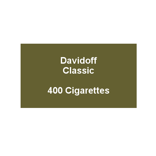 Davidoff King Size Classic - 20 packs of 20 cigarettes (400)