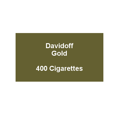 Davidoff King Size Bright Gold - 20 packs of 20 cigarettes (400)